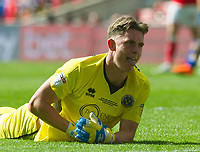 Shrewsbury Dean Henderson during the Sky Bet League 1 Play Off FINAL match between Rotherham United and Shrewsbury Town at Wembley, London, England on 27 May 2018. Photo by Andrew Aleksiejczuk / PRiME Media Images.