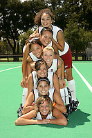 STANFORD, CA - AUGUST 14:  Rachel Bush, Nora Soza, Midori Uehara, Marlana Shile, Rachel Mozenter, Katherine Swank, and Jennifer Luther of the Stanford Cardinal during picture day on August 14, 2008 at the Varsity Turf Field in Stanford, California.