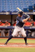 Tampa Bay Rays catcher Nick Ciuffo (14) during an Instructional League game against the Boston Red Sox on September 25, 2014 at Tropicana Field in St. Petersburg, Florida.  (Mike Janes/Four Seam Images)