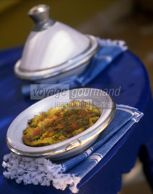 """Afrique/Maghreb/Maroc/Essaouira : Omelette berbère - Recette de Latifa Akroum cuisinière de la villa """"Dar Adul"""""""