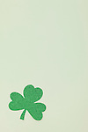 Green shamrock on white background