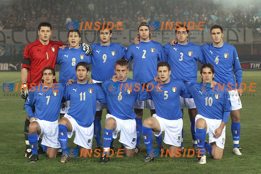Rieti 19 Novembre 2003 Qualificazioni Campionato Europeo Under 21<br /> Italia Danimarca Under 21 0-0<br /> <br /> Foto Andrea Staccioli Insidefoto