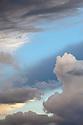 Dramatic cloud formations, Peak District National Park, Derbyshire, UK.