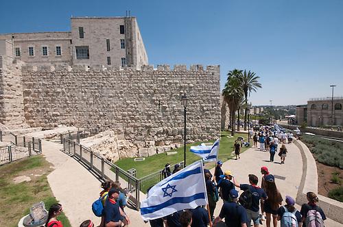 Jerusalem, 10 Mai 2011. Les Israeliens fetent le jour de la victoire contre les nazis (remembrance day), une fete nationale en Israel