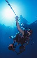 Scuba Diver descending, Florida Keys