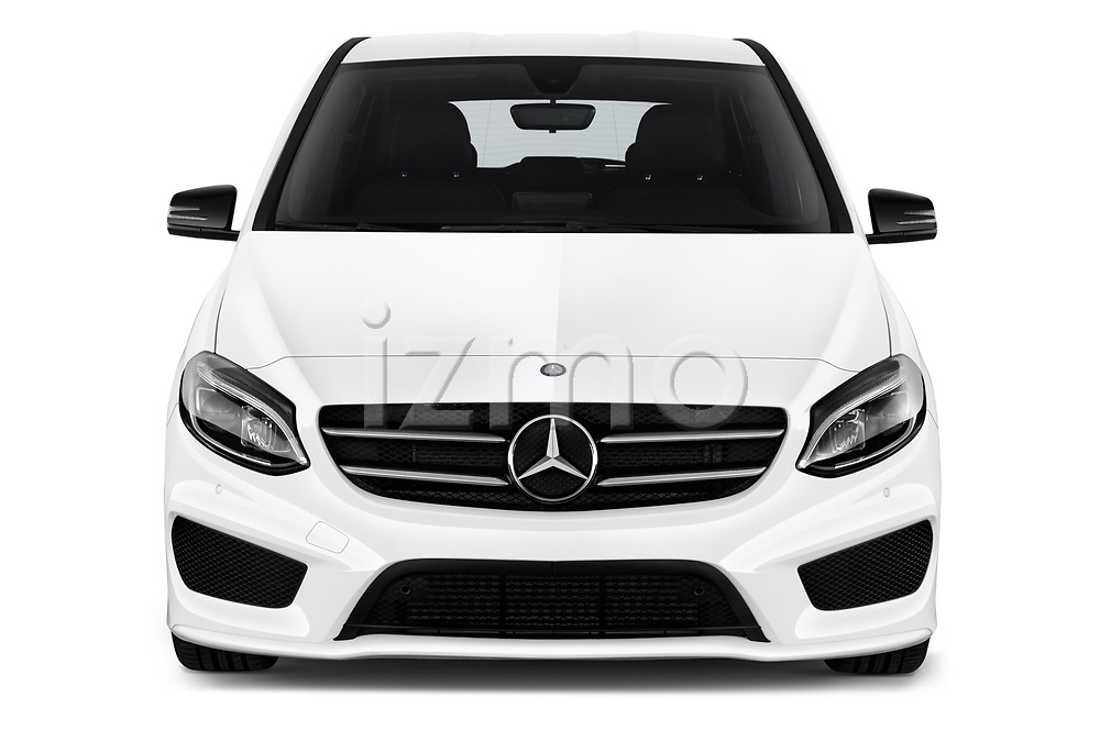 Car photography straight front view of a 2018 Mercedes Benz B Class Base 5 Door Hatchback
