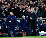 Tottenham's Jose Mourinho celebrates his sides fourth goal during the UEFA Champions League match at the Tottenham Hotspur Stadium, London. Picture date: 26th November 2019. Picture credit should read: David Klein/Sportimage