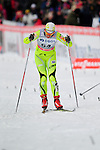 HOLMENKOLLEN, OSLO, NORWAY - March 17: Vesna Fabjan of Slovenia (SLO) finishes at the Ladies 30 km mass start race, free technique, at the FIS Cross Country World Cup on March 17, 2013 in Oslo, Norway. (Photo by Dirk Markgraf)