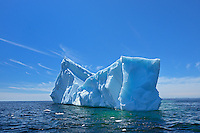 Icebergs floating in the Atlantic Ocean<br /> Near St. Anthony<br /> Newfoundland &amp; Labrador<br /> Canada