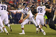 Philadelphia, PA - December 8, 2018:  Navy Midshipmen wide receiver Zach Abey (9) pitches the ball during the 119th game between Army vs Navy at Lincoln Financial Field in Philadelphia, PA. (Photo by Elliott Brown/Media Images International)