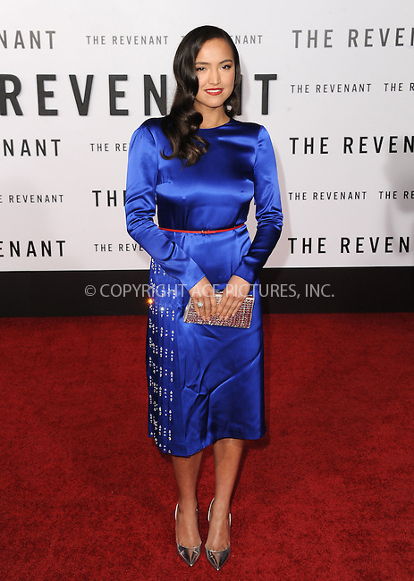 WWW.ACEPIXS.COM<br /> <br /> December 16 2015, LA<br /> <br /> Grace Dove arriving at the premiere of 'The Revenant' at the TCL Chinese Theatre on December 16, 2015 in Hollywood, California.<br /> <br /> <br /> By Line: Peter West/ACE Pictures<br /> <br /> <br /> ACE Pictures, Inc.<br /> tel: 646 769 0430<br /> Email: info@acepixs.com<br /> www.acepixs.com