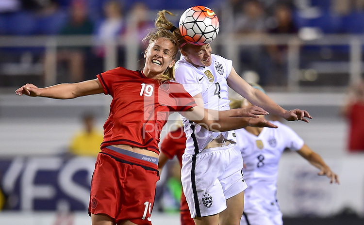 Boca Raton, FL. - March 9, 2016: The U.S. Women's National team defeat Germany 2-1 in the 2016 SheBelieves Cup at FAU Stadium.
