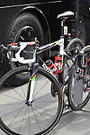 World Champion Philippe Gilbert (BEL) BMC Racing Team bike lined up outside the team bus before the start of the 56th edition of the E3 Harelbeke, Belgium, 22nd  March 2013 (Photo by Eoin Clarke 2013)