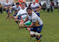 Tanerau Latimer in action during the Manawatu v Bay Of Plenty spell of the Game of Three Halves pre-season rugby match at Taihape Domain in Taihape, New Zealand on Friday, 27 July 2018. Photo: Dave Lintott / lintottphoto.co.nz