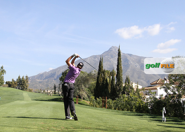 Simon Thornton (IRL) on the 3rd tee on Day 3 of the 2012 Open de Andalucia Costa del Sol at Aloha Golf Club, Marbella, Spain....(Photo Jenny Matthews/www.golffile.ie)