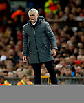 Manchester United manager Jose Mourinho shouts during the UEFA Europa League Quarter Final 2nd Leg match at Old Trafford, Manchester. Picture date: April 20th, 2017. Pic credit should read: Matt McNulty/Sportimage