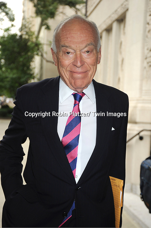 Leonard Lauder attends Marvin Hamlisch's funeral on August 14, 2012 .at Temple Emanuel in New York City.