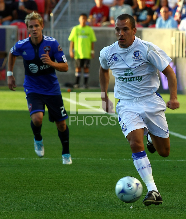 Leon Osman in the MLS All Stars v Everton 4-3 Everton win at Rio Tinto Stadium in Sandy, Utah on July 29, 2009