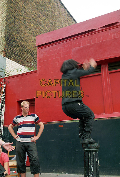 "**PICTURE EXCLUSIVE**.(Fees to be agreed befor use).SHARLEEN SPITERI - TEXAS.Film the video for their new single ""Carnival Girl"" in Portobello Road, recreating street scenes from the Notting Hill Carnival and with the help of a stunt double.www.capitalpictures.com.sales@capitalpictures.com.©Capital Pictures.music."