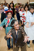 Excercise session at the weekly over-50s group at Greenside Community Centre, Lisson Green.