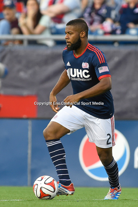 May 11, 2014 - Foxborough, Massachusetts, U.S. - New England Revolution defender Andrew Farrell (2) in game action during the MLS game between the Seattle Sounders FC and the New England Revolution held at Gillette Stadium in Foxborough Massachusetts.  New England defeated Seattle 5-0   Eric Canha/CSM
