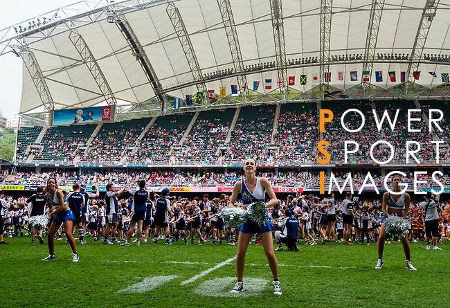 Action on Day 2 of the Cathay Pacific / HSBC Hong Kong Sevens 2013 on 23 March 2013 at Hong Kong Stadium, Hong Kong. Photo by Andy Jones / The Power of Sport Images