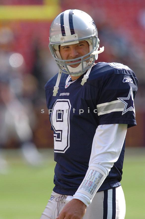 TONY ROMO, of the Dallas Cowboys ,during their game against  the  Washington Redskins on Novmeber 05, 2006 in Washington D.C....Redskins win 22-19..Tomasso DeRosa / SportPics