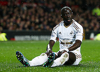 Madou Barrow of Swansea City during the Barclays Premier League match between Manchester United and Swansea City played at Old Trafford, Manchester on January 2nd 2016