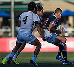 Hong Kong plays South Korea during the men's final of ARFU Asian Rugby 7s Round 1 on August 23, 2014 at the Hong Kong Football Club in Hong Kong, China. Photo by Xaume Olleros / Power Sport Images