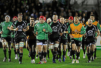 14th December 2013; Connacht players complete a warm up lap before the game. Heineken Cup Pool 3, round 4, Connacht v Toulouse, The Sportsground, Galway. Picture credit: Tommy Grealy/actionshots.ie.