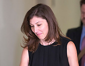 "Lisa Page, legal counsel to former FBI Director Andrew McCabe, departs following the first part of ""a transcribed interview"" before the United States House Judiciary Committee on Capitol Hill in Washington, DC on Friday, July 13, 2018. Page is considered to be a key witness by the committee for her role with Peter Strzok and decisions made by the Department of Justice and the FBI in the months before the 2016 Presidential election.<br /> Credit: Ron Sachs / CNP<br /> (RESTRICTION: NO New York or New Jersey Newspapers or newspapers within a 75 mile radius of New York City)"