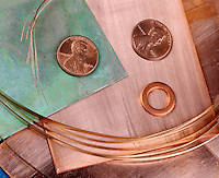 COPPER: PENNIES, WASHER, SHEETS & WIRE