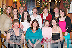 TREAT: Treating themselves on Womens Christmas in Gabys Restaurant, Killarney, last Saturday night. Front row l-r: Kay Griffin and Paula Brosnan, Cordal, Laura Kelly and Catriona Kelly, Ballydesmond. Back row l-r: Breda Walsh, Cordal, Noreen Kelly, Sinead Murphy, Shauna Kelly and Mary Kelly, Ballydesmond, Noreen Walsh, Cordal, Sile Murphy and Niamh Murphy, Ballydesmond..