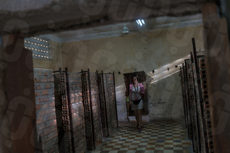 June 11, 2017 - Phnom Penh (Cambodia). Tourists visit the Tuol Sleng, the former school converted into a prison by the Khmer Rouge. © Thomas Cristofoletti / Ruom