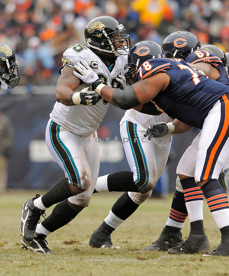 PAUL SPICER, of the  Jacksonville Jaguars, in action against the Chicago Bears, during the  Jaguars, game  in Chicago, IL  on December, 7 2008..Bears win 23-10