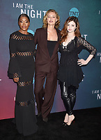 "LOS ANGELES, CA - MAY 09: (L-R) Golden Brooks, Connie Nielsen and India Eisley attend TNT's ""I Am The Night"" EMMY For Your Consideration Event at the Television Academy on May 09, 2019 in Los Angeles, California.<br /> CAP/ROT/TM<br /> ©TM/ROT/Capital Pictures"