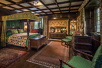 BNPS.co.uk (01202 558833)<br /> Pic: Savills/BNPS.<br /> <br /> One of the bedrooms at Athelhampton House.<br /> <br /> The contents of one of England's finest stately homes are expected to fetch over £1m when they go under the hammer.The auction of a myriad of treasures inside Athelhampton House in Dorset is being hailed as one of the best country house sales for a generation The collection of fine art, furniture, sculptures, paintings and rugs has been amassed by three generations of the Cooke family who have just sold the Tudor mansion for £7.5m.