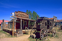 Stagecoach in old 1880s ghost town in Murdo South Dakota used in many movies