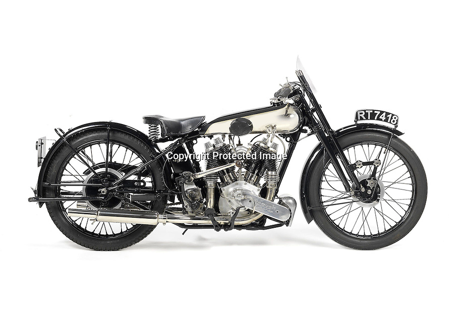 BNPS.co.uk (01202 558833).Pic: Bonhams/BNPS..***Please use full byline***..1931 Brough classic SS80...5p Raffle prize turns into £70,000 windfall...A motorcycle which was once won with a five pence raffle ticket is set to sell for over 1.4 million times that amount...The 1931 Brough Superior 980cc SS80 was won by Terence Allen after he bought the raffle ticket in 1972...The classic bike had been donated by Bill Gibbard, a member of the Brough Superior Club, as the organisation needed to raise some funds...Mr Allen kept the Brough for two years before selling it on for a handsome profit in the region of £10,000...Now the bike is set to fetch £70,000 when it is auctioned by Bonhams later this month.