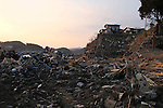 March 29, 2011, Minamisanriku, Miyagi, Japan - The town is still in ruins more than two weeks after the tsunami. In the hamlet of Shizugawa, the wave reached high enough to ruin even the homes once thought safe. (Photo by Wesley Cheek/AFLO) [3682]