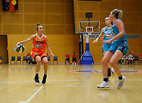 29th November 2019; Bendat Basketball Centre, Perth, Western Australia, Australia; Womens National Basketball League Australia, Perth Lynx versus Southside Flyers; Lauren Mansfield of the Perth Lynx dribbles to the top of the key - Editorial Use
