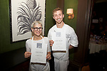 New York, NY - December 19, 2017: North Fork Table &amp; Inn chef Stephan Bogardus and owner and pastry chef Claudia Fleming present dinner at the James Beard House in Greenwich Village.<br /> <br /> <br /> CREDIT: Clay Williams for The James Beard Foundation.<br /> <br /> &copy;Clay Williams / http://claywilliamsphoto.com