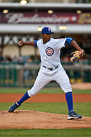 April 10th 2010: Alberto Cabrera of the Daytona Cubs in the game against the Brevard County Manatees at Jackie Robinson Ballpark in Daytona Beach, FL (Photo By Scott Jontes/Four Seam Images)