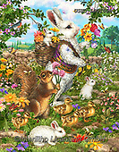 Liz,REALISTIC ANIMALS, REALISTISCHE TIERE, ANIMALES REALISTICOS, paintings+++++,USHCLD0105B,#A#, EVERYDAY,rabbit,eastern ,puzzle,puzzles