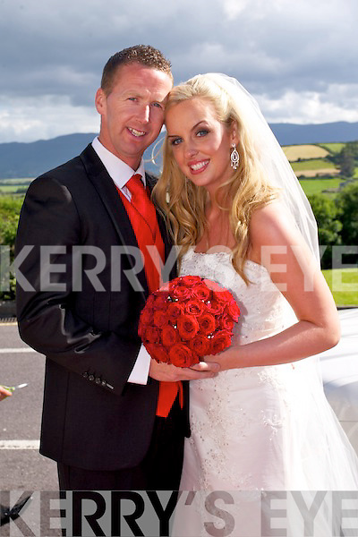 Aine Regan, Knocknagoshel, daughter of Larry and Josie Regan, and Johnny O'Connor, Kilrush, son of   Ollie and Ann O'Connor, were married at St'Mary's Church Knocknagoshel by Fr. Canon Mangan on Saturday 5th July 2014 with a reception at Ballyroe Heights Hotel