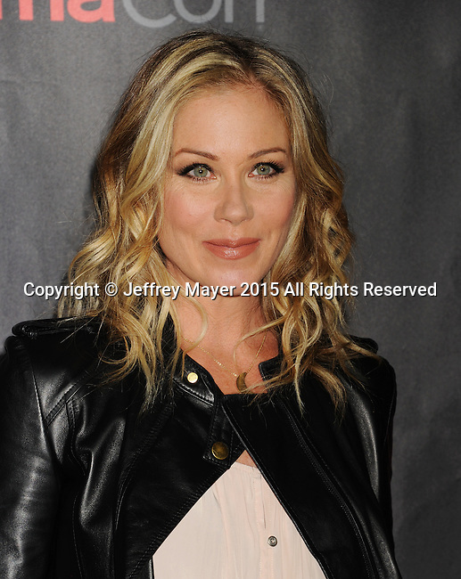 LAS VEGAS, CA - APRIL 21: Actress Christina Applegate arrives at Warner Bros. Pictures Invites You to ?The Big Picture at The Colosseum at Caesars Palace during CinemaCon, the official convention of the National Association of Theatre Owners, on April 21, 2015 in Las Vegas, Nevada.