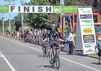 NZ's Hayden McCormick wins the 2018 NZ Cycle Classic UCI Oceania Tour (Masterton criterium) in Masterton, New Zealand on Friday, 21 January 2018. Photo: Dave Lintott / lintottphoto.co.nz