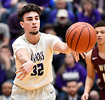 Collinsville forward Lorent Dzeladini passes. Belleville West played Collinsville in the Class 4A Belleville East regional basketball championship game at Belleville East High School in Belleville, Illinois on Friday March 6, 2020. <br /> Tim Vizer/Special to STLhighschoolsports.com