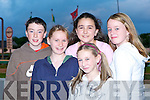 NIGHT AT THE DOGS: Enjoy there night at the Kingdom Greyhound Stadium on Friday l-r: Gary Sheehy, Ballymac, Grace Carton, Caherleaheen, Katherina Foran, Ballymac, Hayley James, Cloghers and Kelly O'Shea, Ballymac.   Copyright Kerry's Eye 2008
