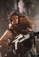 Aliens (1986)<br /> Sigourney Weaver &amp; Carrie Henn<br /> *Filmstill - Editorial Use Only*<br /> CAP/KFS<br /> Image supplied by Capital Pictures